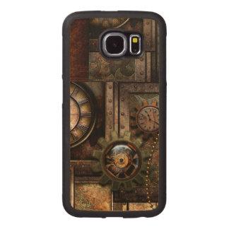 Capa De Madeira Para Telefone Design maravilhoso do steampunk