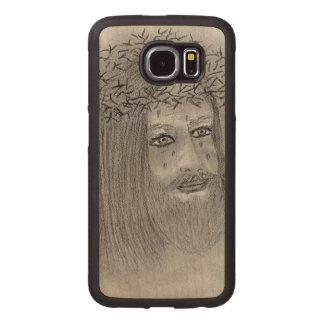 Capa De Madeira Para Telefone Jesus de grito