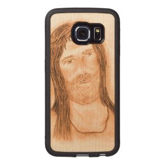 Capa De Madeira Para Telefone Jesus na luz