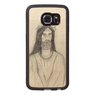 Capa De Madeira Para Telefone Jesus vestido com robe