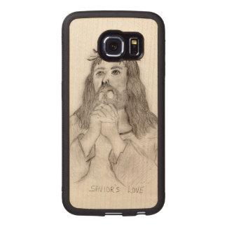 Capa De Madeira Para Telefone O amor do salvador
