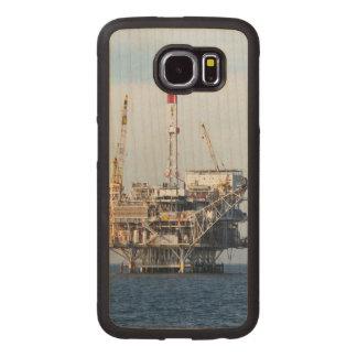 Capa De Madeira Para Telefone Plataforma petrolífera