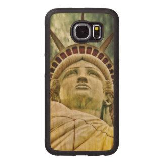 Capa De Madeira Para Telefone Senhora Liberdade, estátua da liberdade