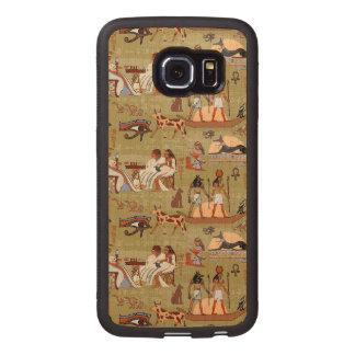 Capa De Madeira Para Telefone Teste padrão dos símbolos de Egipto |