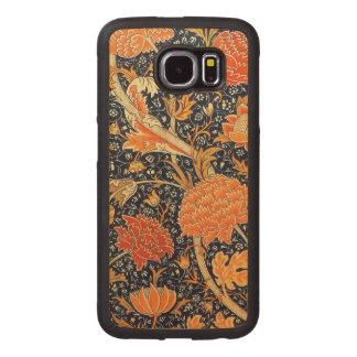 Capa De Madeira Para Telefone Teste padrão floral de Nouveau da arte de William