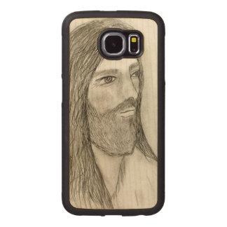 Capa De Madeira Para Telefone Um Jesus solene II