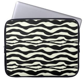 Capa De Notebook A bolsa de laptop animal do impressão da zebra