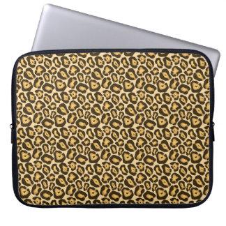 Capa De Notebook A bolsa de laptop chique do impressão do leopardo
