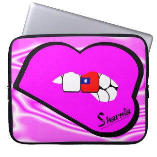 Capa De Notebook A bolsa de laptop de Formosa dos lábios de Sharnia