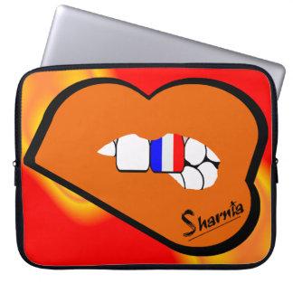 Capa De Notebook A bolsa de laptop de France dos lábios de Sharnia