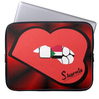 Capa De Notebook A bolsa de laptop de Sudão dos lábios de Sharnia