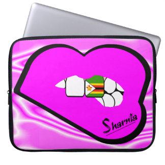 Capa De Notebook A bolsa de laptop de Zimbabwe dos lábios de