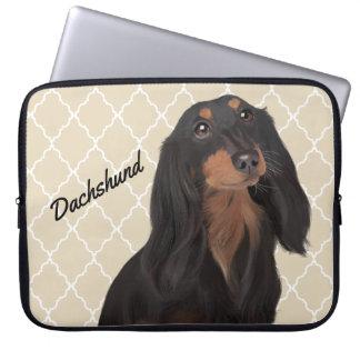 Capa De Notebook A bolsa de laptop do Dachshund