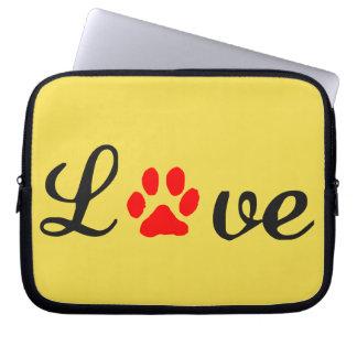 Capa De Notebook A bolsa de laptop do neopreno animais de estimação