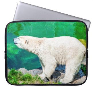 Capa De Notebook A bolsa de laptop do neopreno urso polar de 15