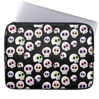 Capa De Notebook A bolsa de laptop do teste padrão do crânio do