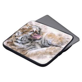 Capa De Notebook A bolsa de laptop do tigre rujir