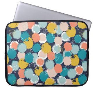 Capa De Notebook A bolsa de laptop Dotty do teste padrão do ponto