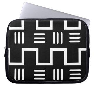 Capa De Notebook A bolsa de laptop étnica de pano da lama
