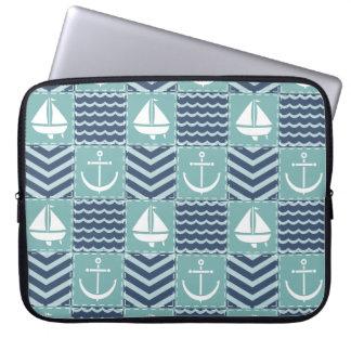 Capa De Notebook A bolsa de laptop náutica da edredão