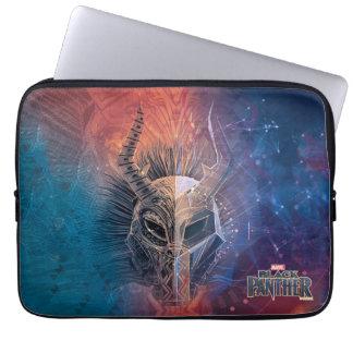 Capa De Notebook A máscara tribal preta da pantera   cobriu a arte