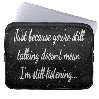 Capa De Notebook Ainda falando? … Adolescente Sassy de escuta