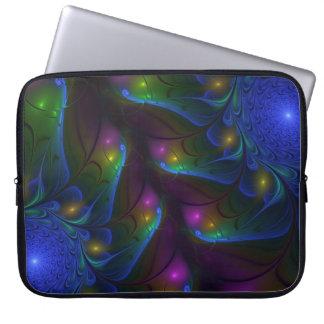 Capa De Notebook Arte moderna abstrata luminosa colorida do Fractal