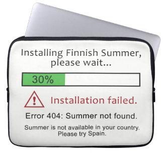 Capa De Notebook As bolsas de laptop finlandesas engraçadas do