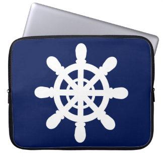 Capa De Notebook Azul da bolsa de laptop da roda do marinheiro
