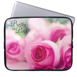 Capa De Notebook Bonito em rosas cor-de-rosa
