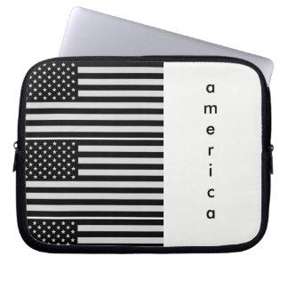 Capa De Notebook Caixa preto e branco da tabuleta/laptop de América