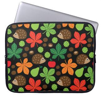 Capa De Notebook Castanhas & teste padrão sem emenda do ouriço