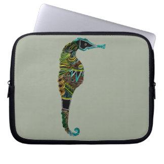Capa De Notebook Cavalo marinho de néon