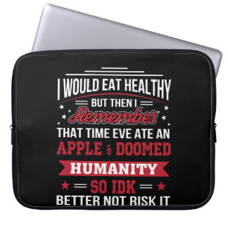 Capa De Notebook Coma a véspera saudável comeu a dieta de Apple tão