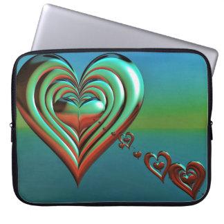 Capa De Notebook Corações muito ao alto