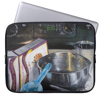 Capa De Notebook Cozimento na bolsa de laptop da pintura acrílica