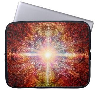 Capa De Notebook Da mandala H069 laranja 2 profundamente
