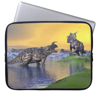 Capa De Notebook Dinossauros do Einiosaurus pelo por do sol - 3D