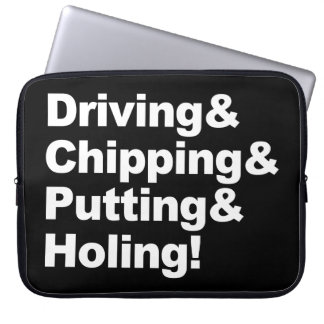 Capa De Notebook Driving&Chipping&Putting&Holing (branco)