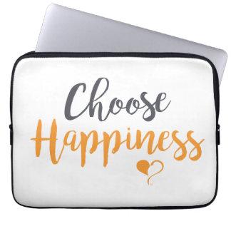 Capa De Notebook Escolha a bolsa de laptop da felicidade