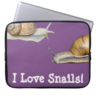 Capa De Notebook Eu amo o design do caracol dos caracóis