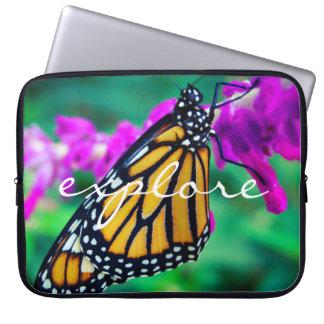 """Capa De Notebook """"Explore"""" a foto alaranjada da borboleta de"""