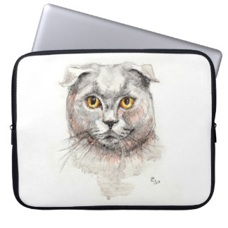 Capa De Notebook Gato da dobra do Scottish