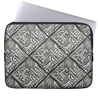 Capa De Notebook Geométrico-Mão estrutural preta cinzenta teste