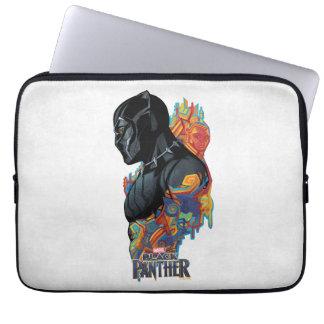 Capa De Notebook Grafites tribais da pantera preta de pantera preta