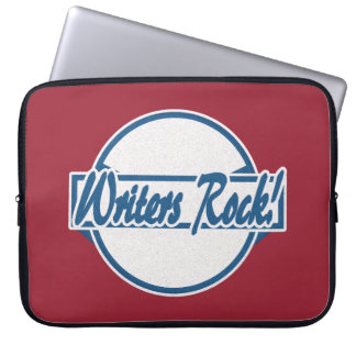 Capa De Notebook Grunge do azul do logotipo do círculo da rocha dos