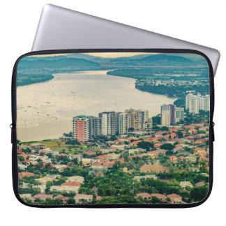 Capa De Notebook Ideia aérea do subúrbio de Guayaquil do plano