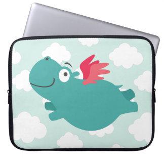 Capa De Notebook Ilustração do hipopótamo do vôo