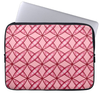 Capa De Notebook Impressão atômico moderno do meio século - rosa do