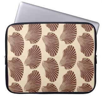 Capa De Notebook Impressão, Brown e bege de bloco de Shell de